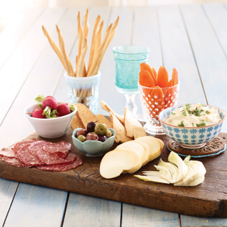 Cheese Tray - Have a hard, soft and a specialty cheese with a summer ...